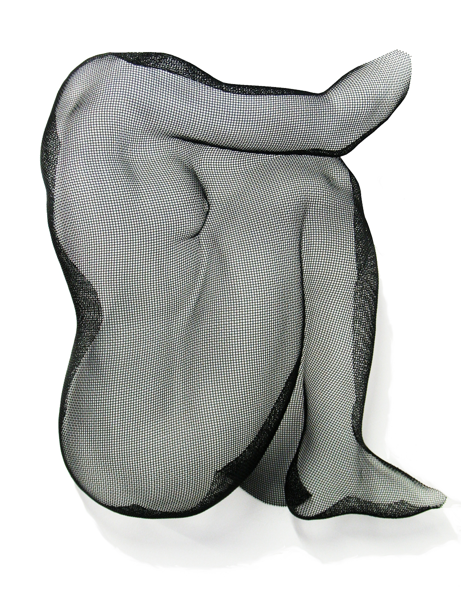 Eric Boyer, Seated Torso, steel wire mesh