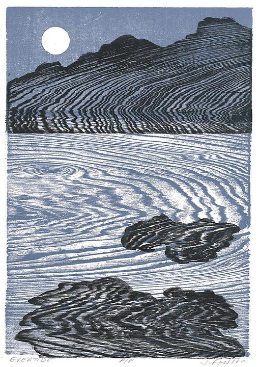 Jan Fowler, Eventide, woodcut
