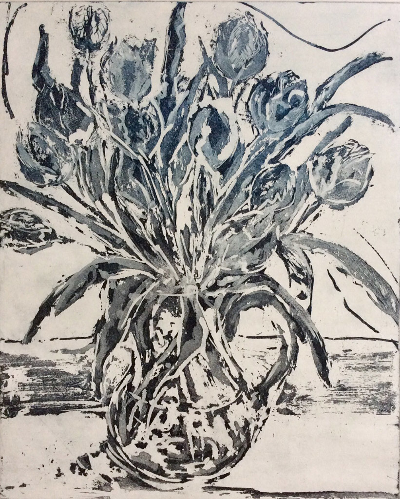 Jani Hoberg, Tulips, etching