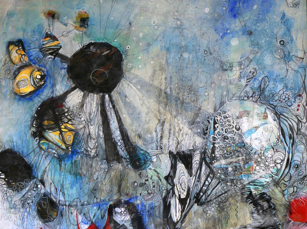 Jennifer & Richard Cutshall, Tide Pool, mixed media