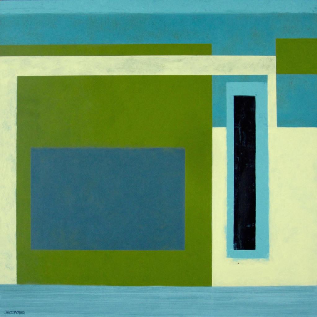 Jody Katopothis, Something Green Will Always Grow, acrylic on panel
