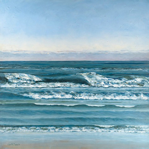 Judith Babbitt, Neskowin High Tide, oil