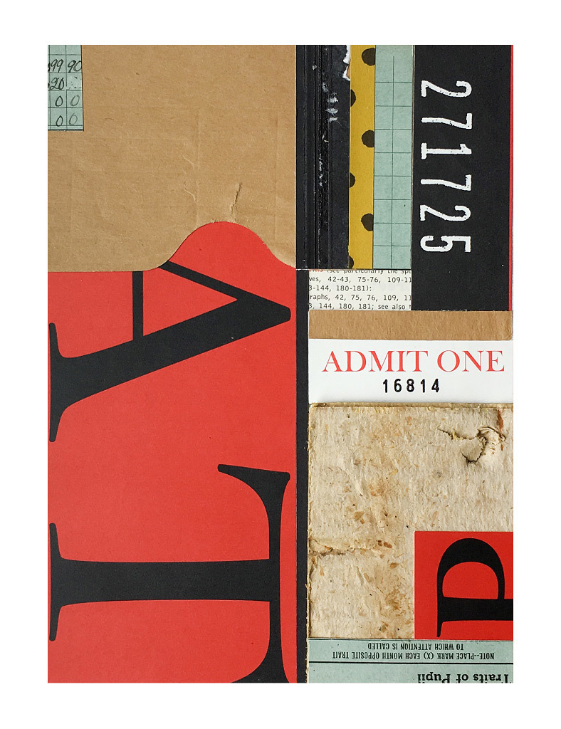 Michael Satern, Admit One, mixed media