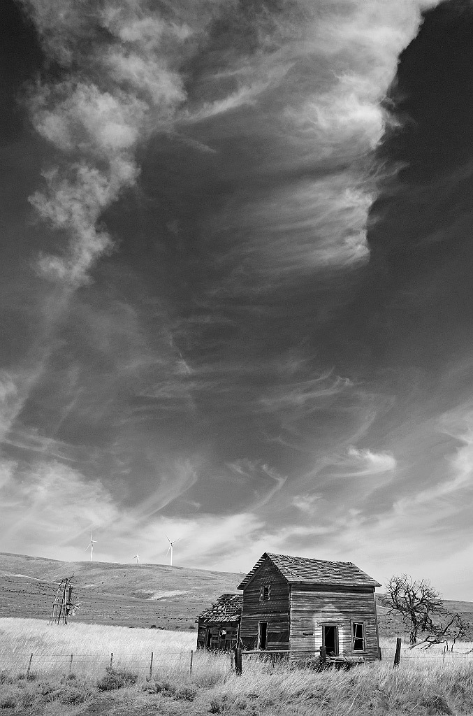 Rich Bergeman, Abandoned Homestead, Goodnoe Hills, WA, Pigment Ink Print