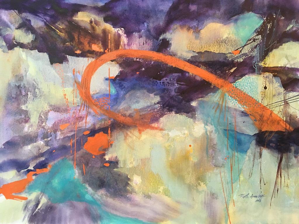 Ruth Armitage, Summer Storm, mixed media