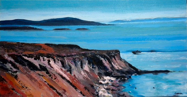 Sidonie Caron, San Juan Islands, acrylic on canvas