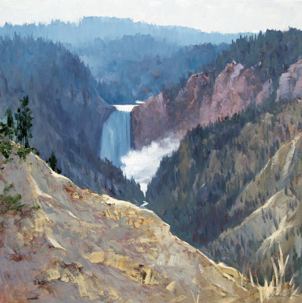 Wayne Hung Chin, Canyon Falls, oil