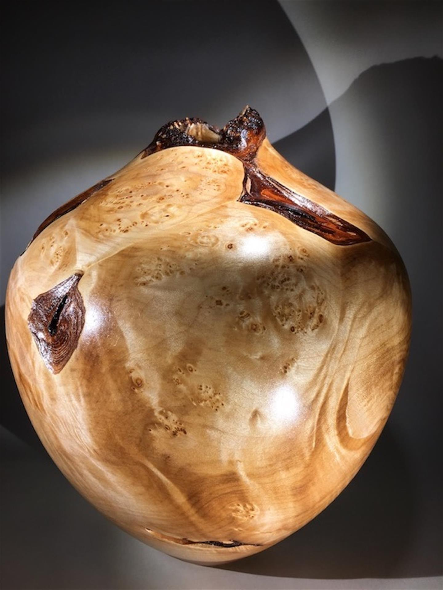 Max McBurnett, Maple Burl with Bark Inclusion and Spalting