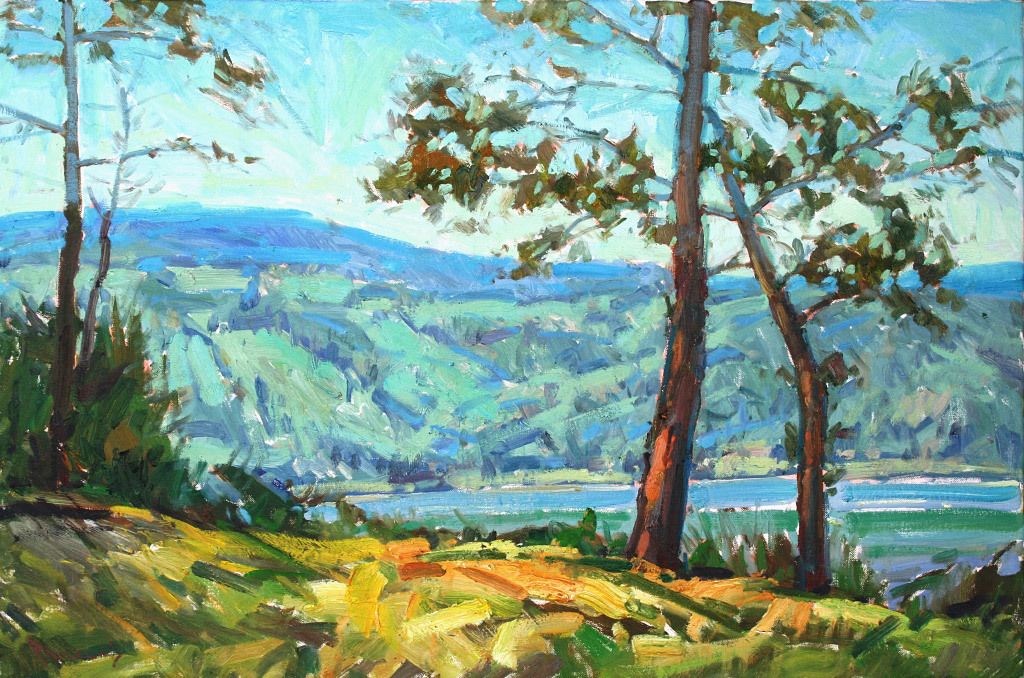 Anton Pavlenko, Mid Afternoon in the Gorge, oil