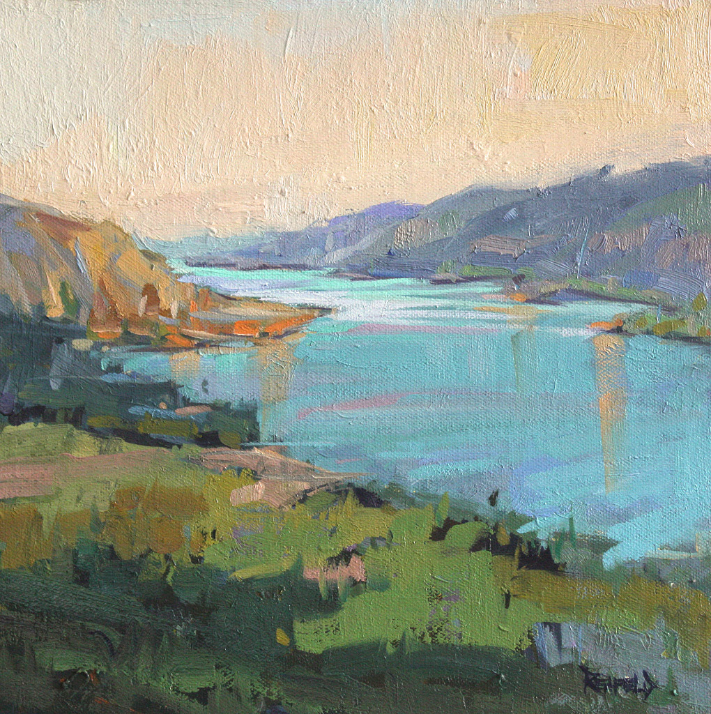 Cathleen Rehfeld, Columbia Gorge, oil