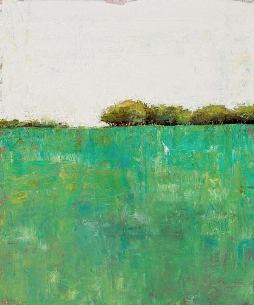Don Bishop, Tree Line 4-18-15, acrylic on canvas