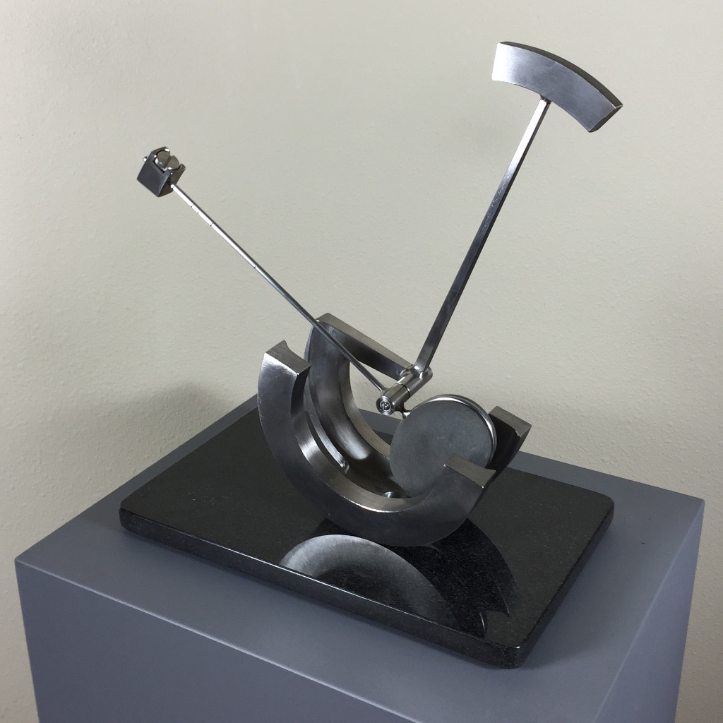 Don MacLane, Chariot, stainless steel & basalt