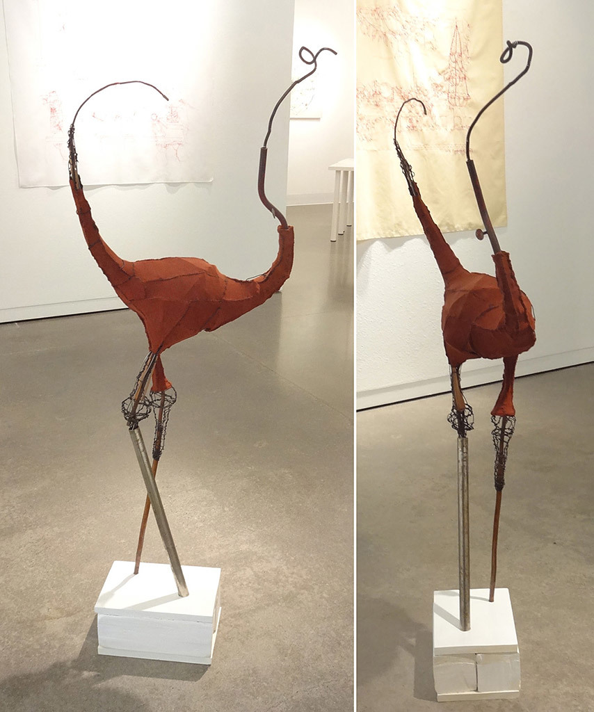 Heather Goodwind, Bird, mixed media