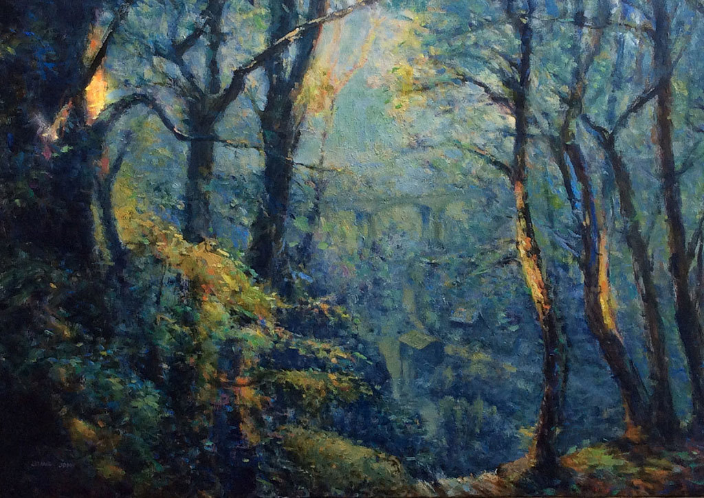 Leland John, Winter Woods, oil on linen