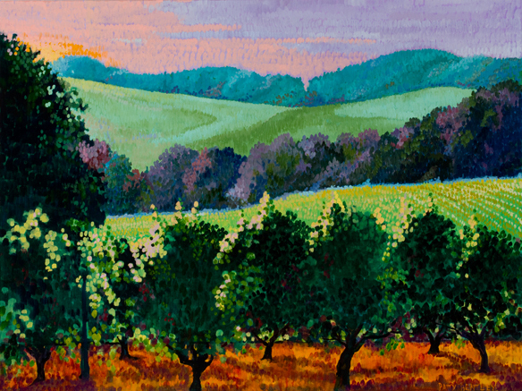 Patty Bentley, Oregon Landscape, oil on canvas
