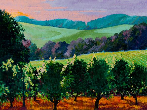 Patty Bentley, Oregon Landscape, oil on canvas