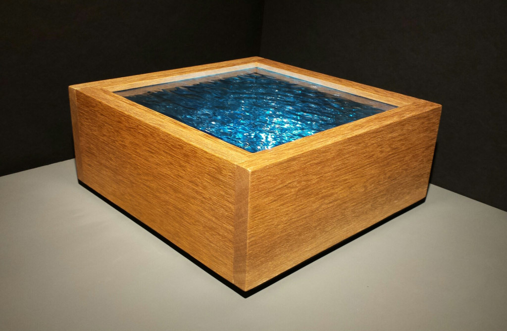 Robert Elan, Quiet Blue Sea, glass and wood