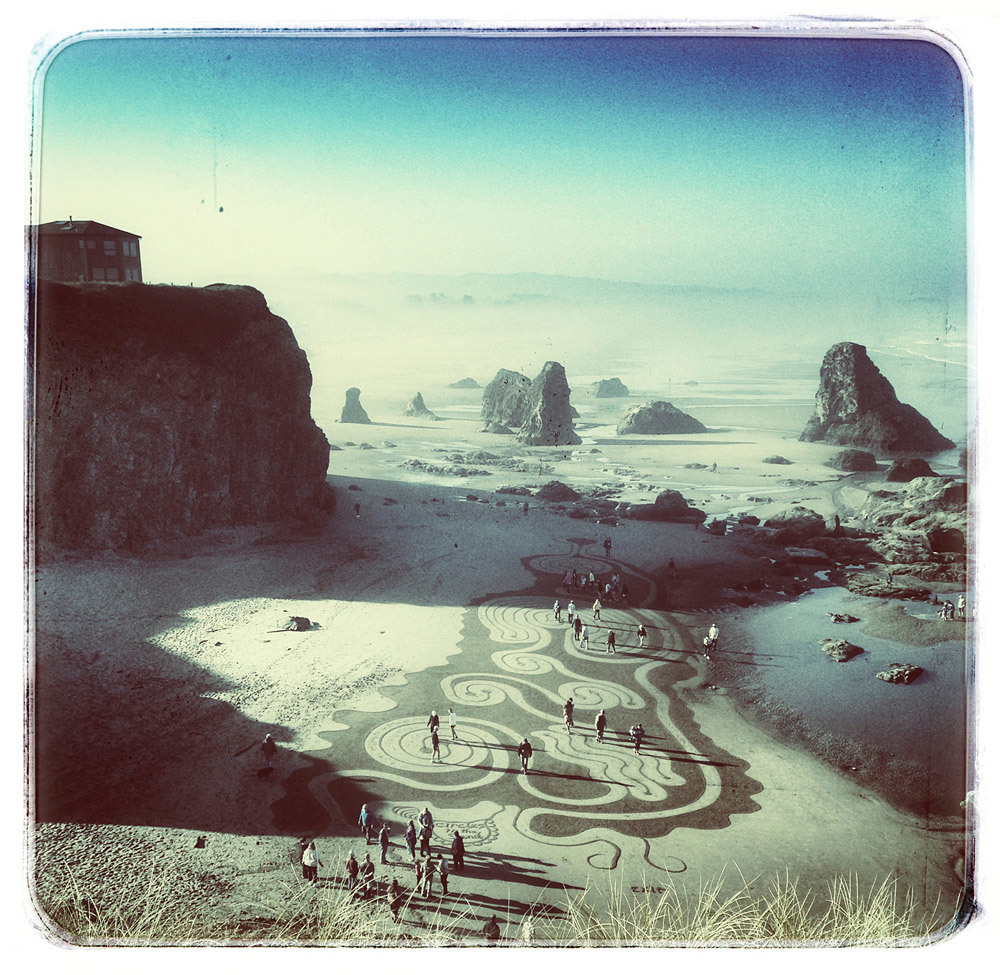 Shelley Curtis, Sand Maze, Bandon Wayside, pigment ink print