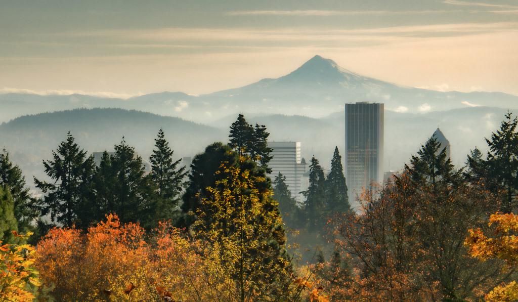 Don Schwartz, Portland in Autumn, color photo