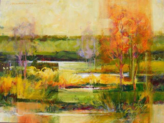Jean Thomas, Wetlands Revisited, acrylic