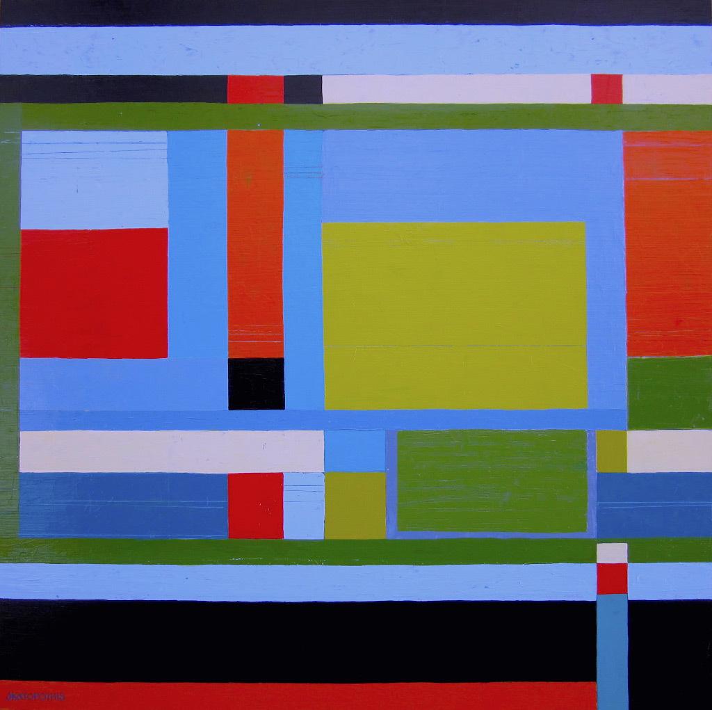 Jody Katopothis, Ancestral Lines II, acrylic on panel