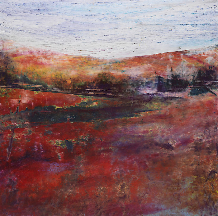 Mary Dennis, Northwest Autumn, oil pastel
