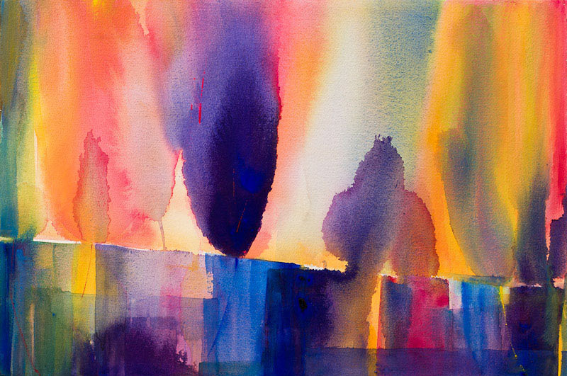 Satoko Motouji, Light and Air #3, water color