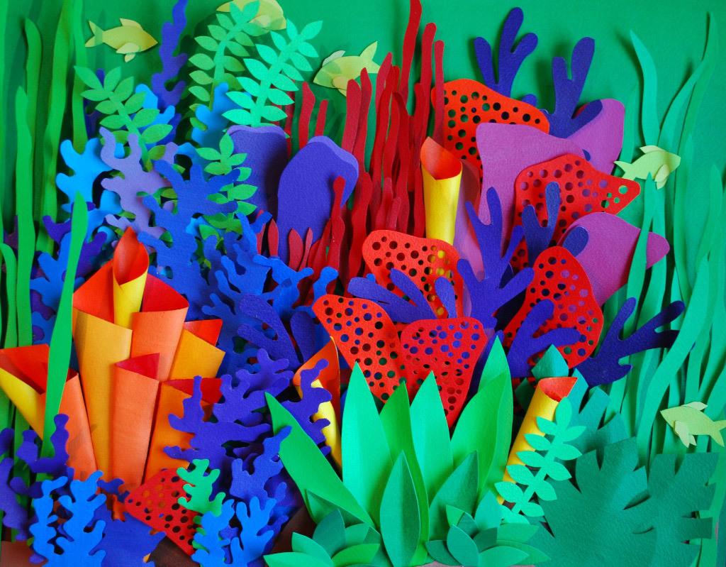 Sine Morse, Underwater Garden, cut paper
