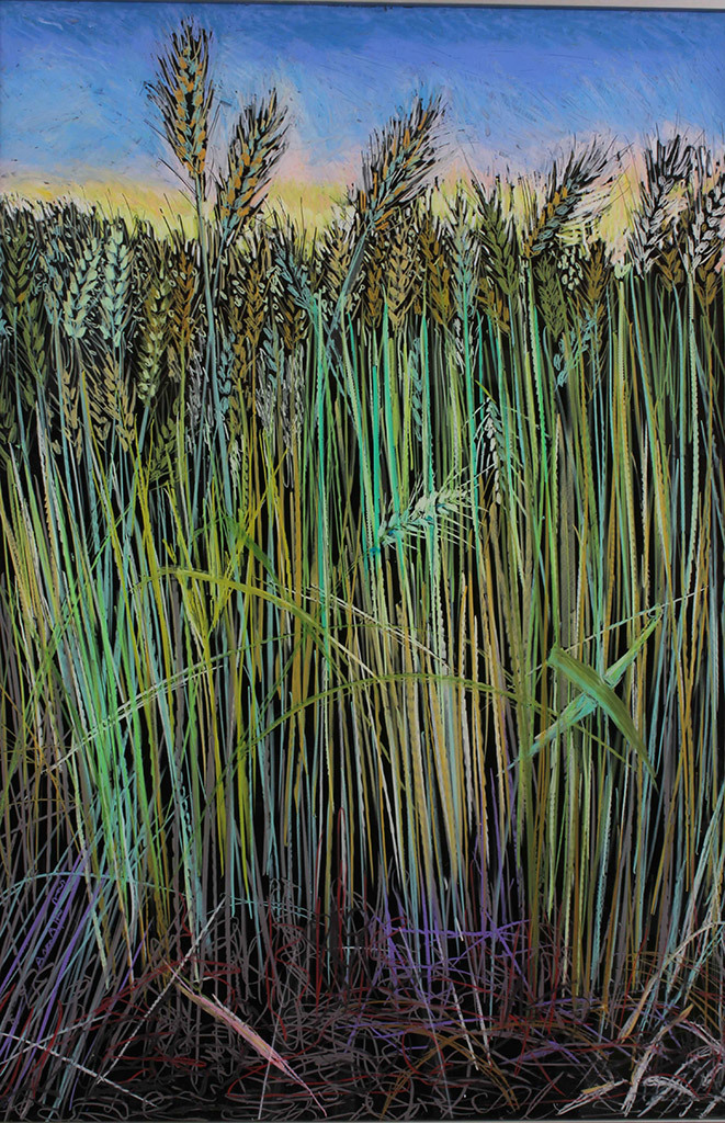 Ann Altman, Wheat, oil pastel