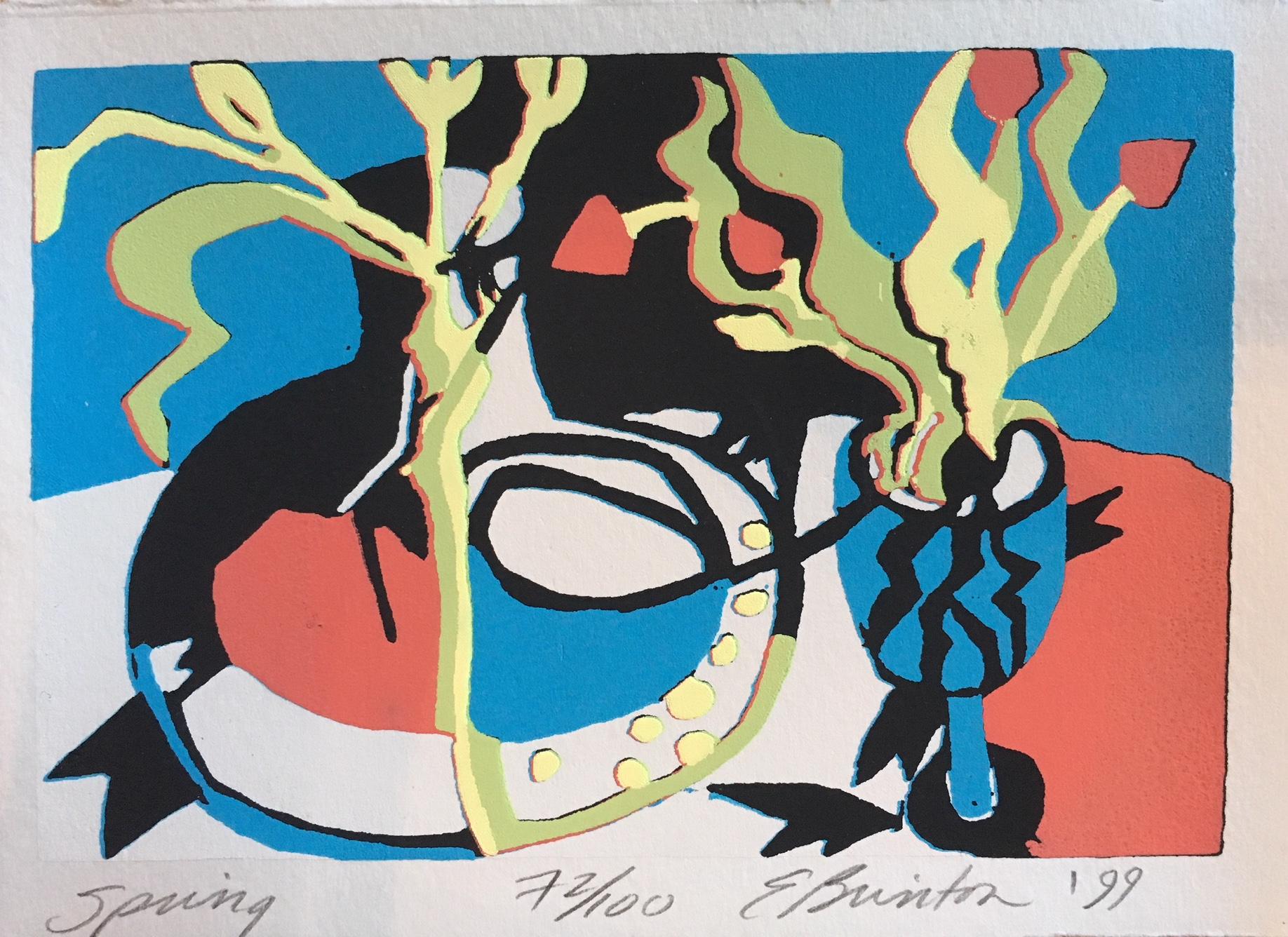 Elizabeth Brinton, Spring, silkscreen