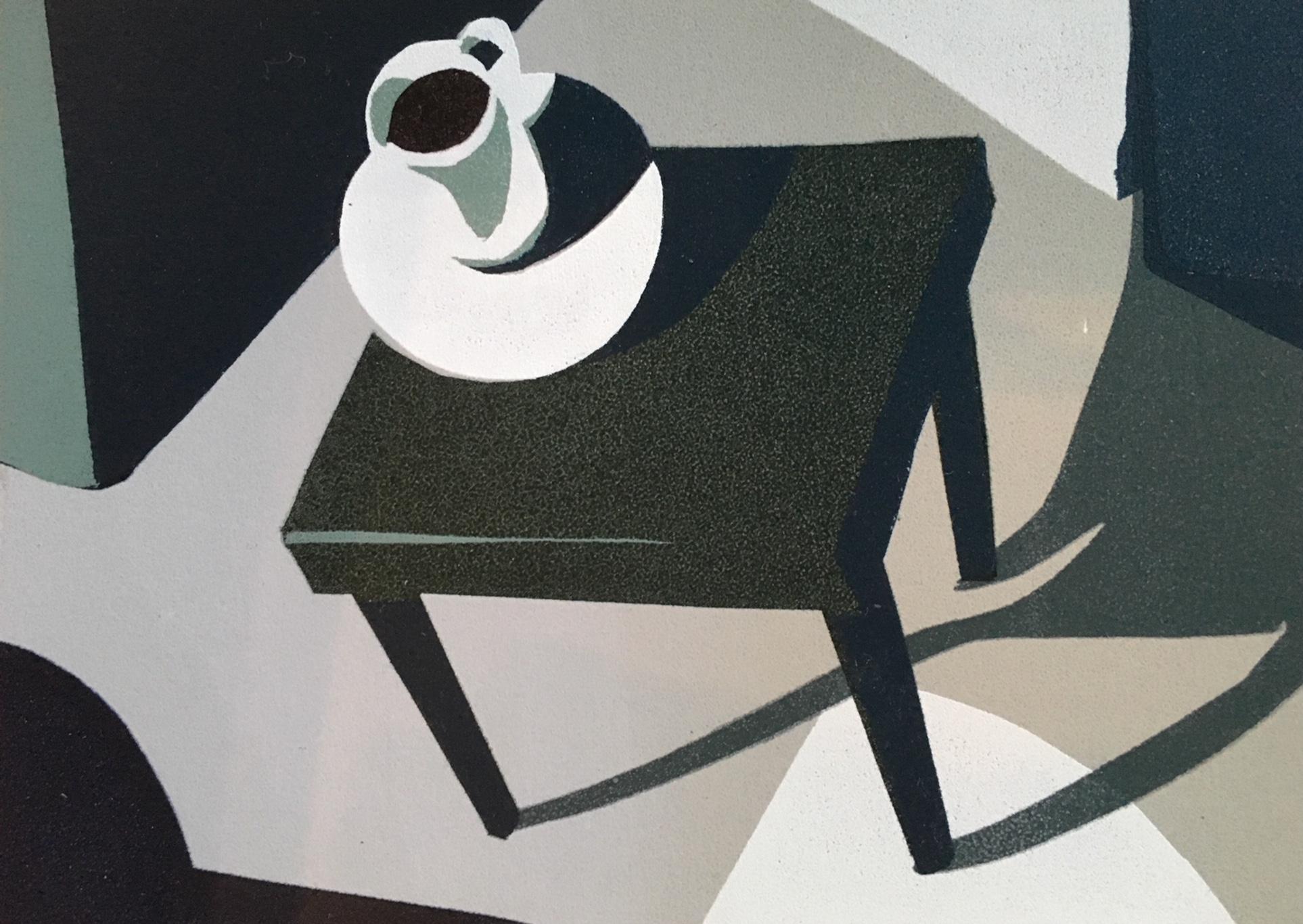 Chi Meredith, Coffee Edge, serigraph