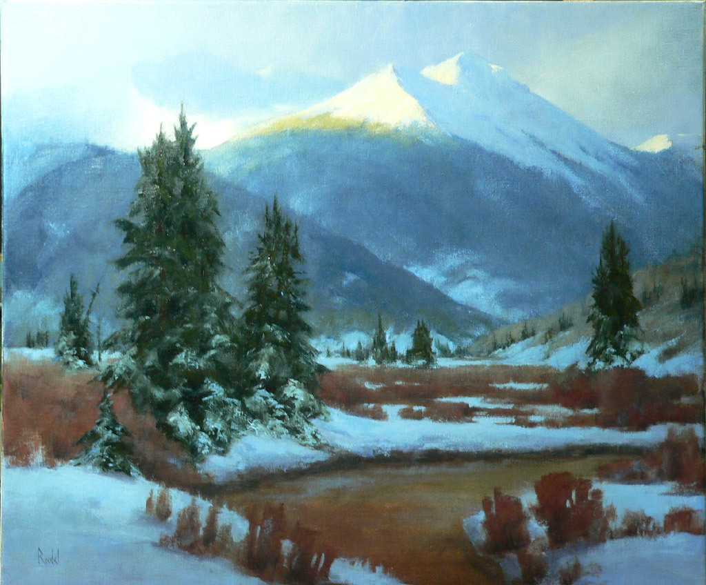 David Riedel, First Light, oil