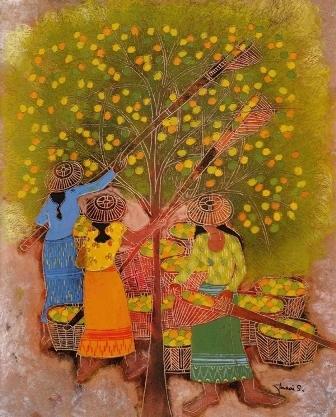 Fasai Streed, Picking Fruit, oil