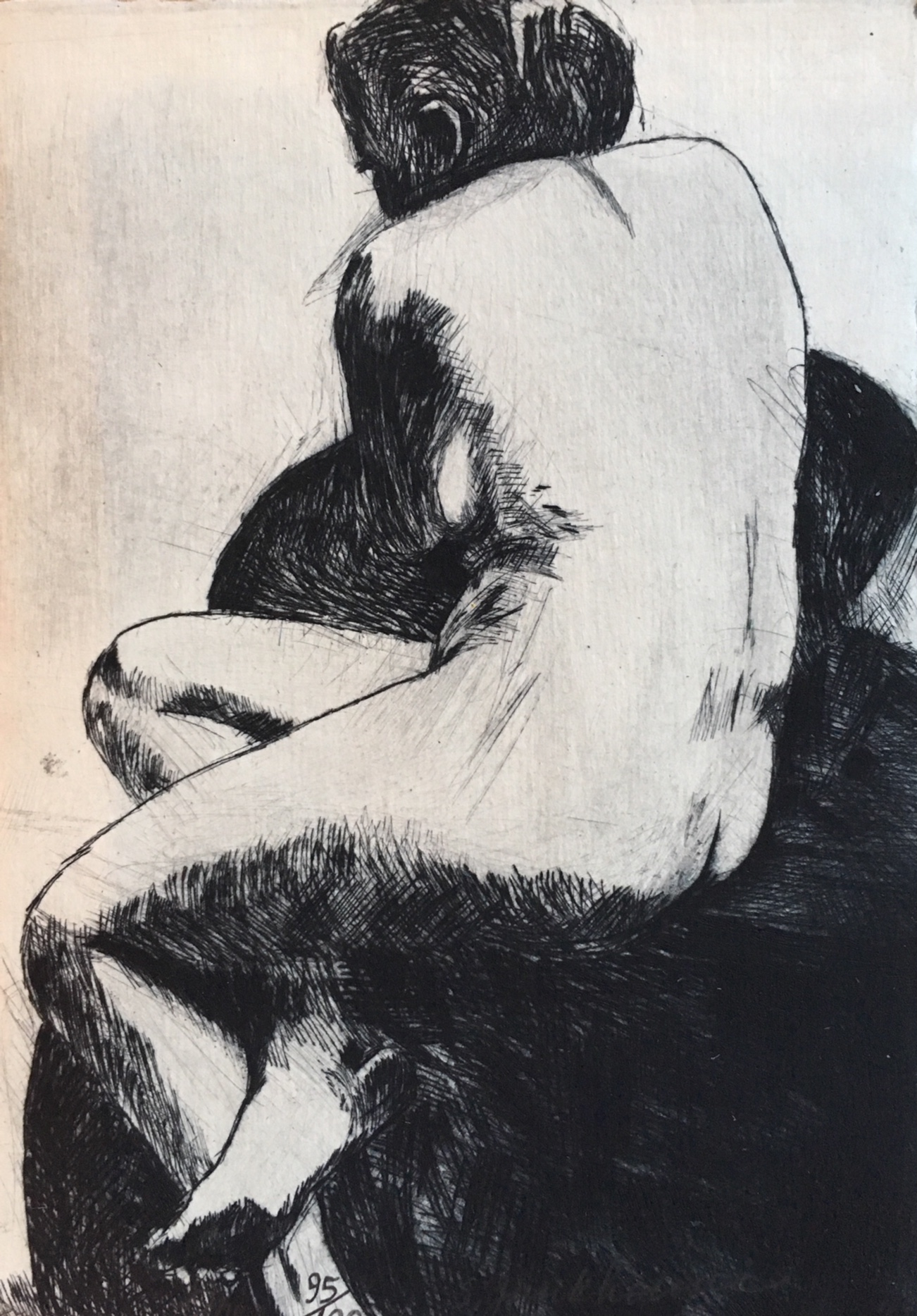 Sheryl Funkhouser, One, drypoint