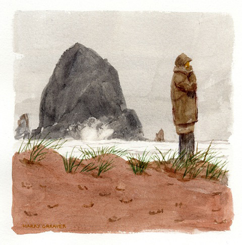 Harry Greaver, Winter Visitor, water color