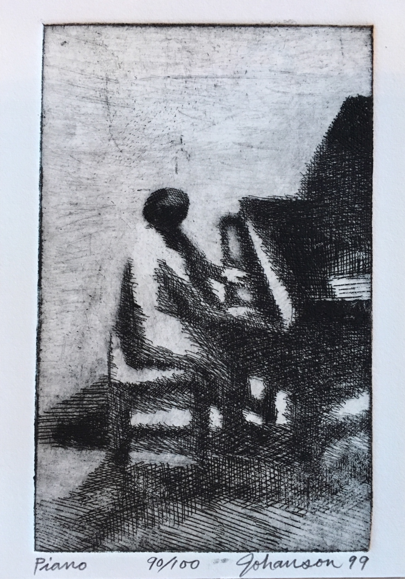 George Johanson, Piano, etching