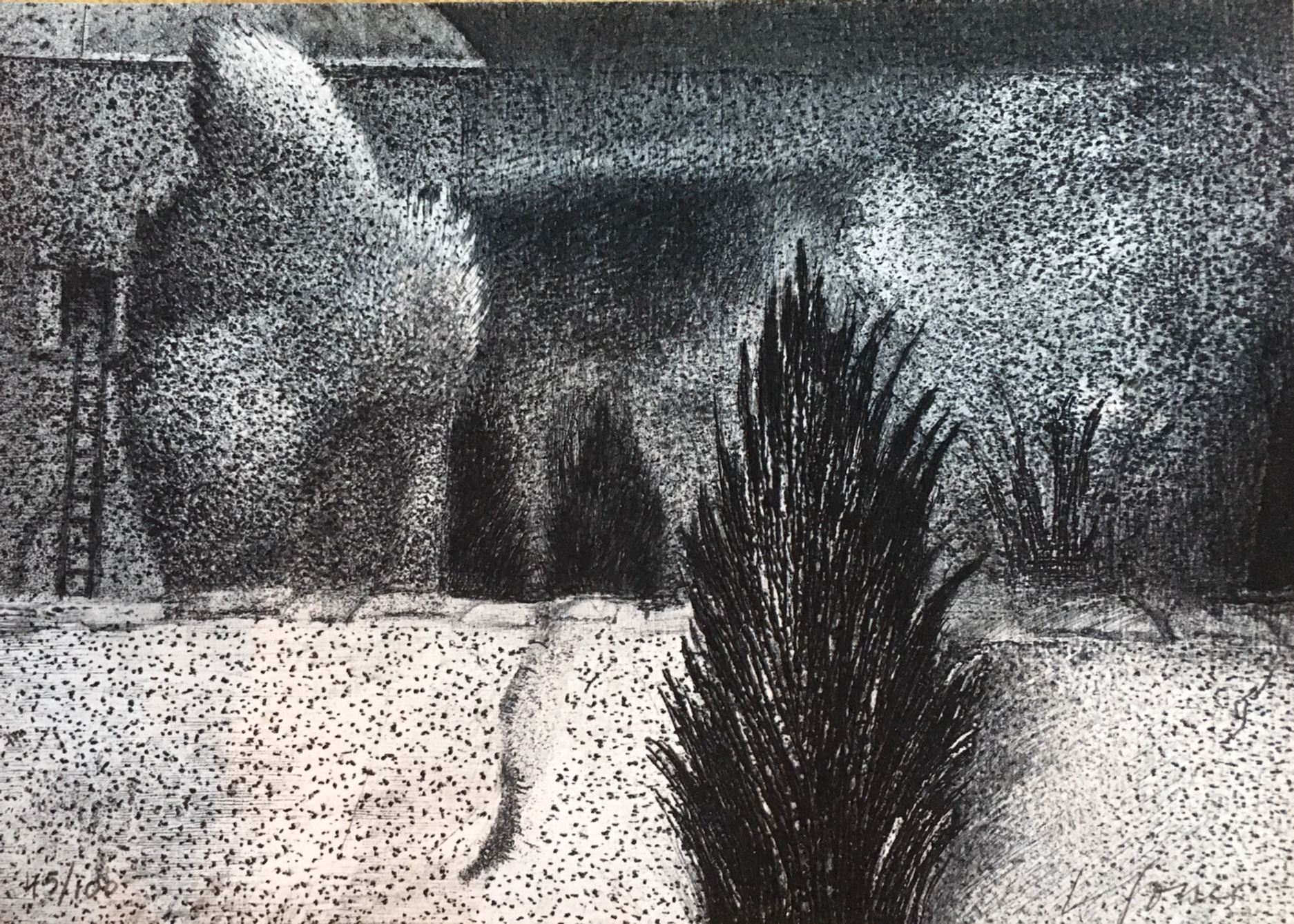 Liza Jones, Seurat Elopes, etching / drypoint
