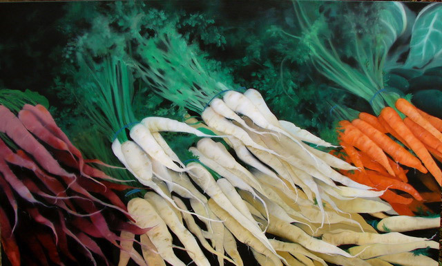 Judy Phipps, Our Roots are Showing, oil