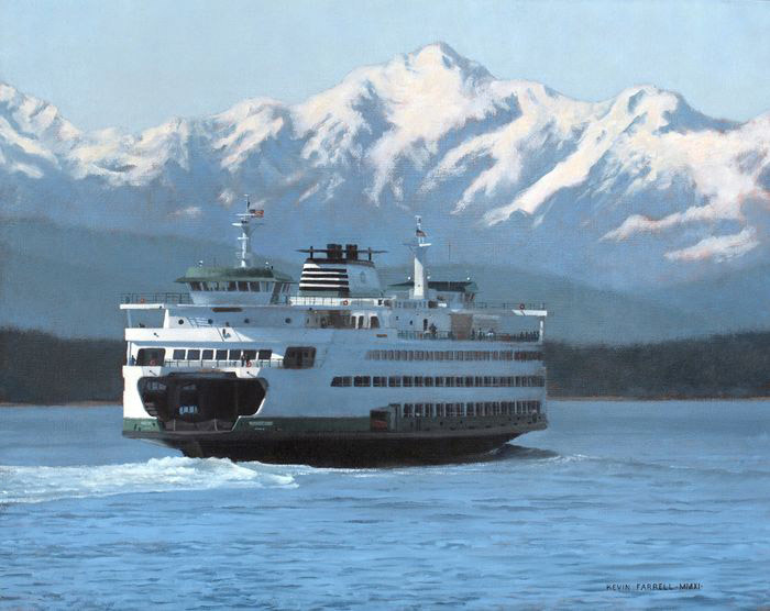 Kevin Farrell, Crossing Puget Sound, oil