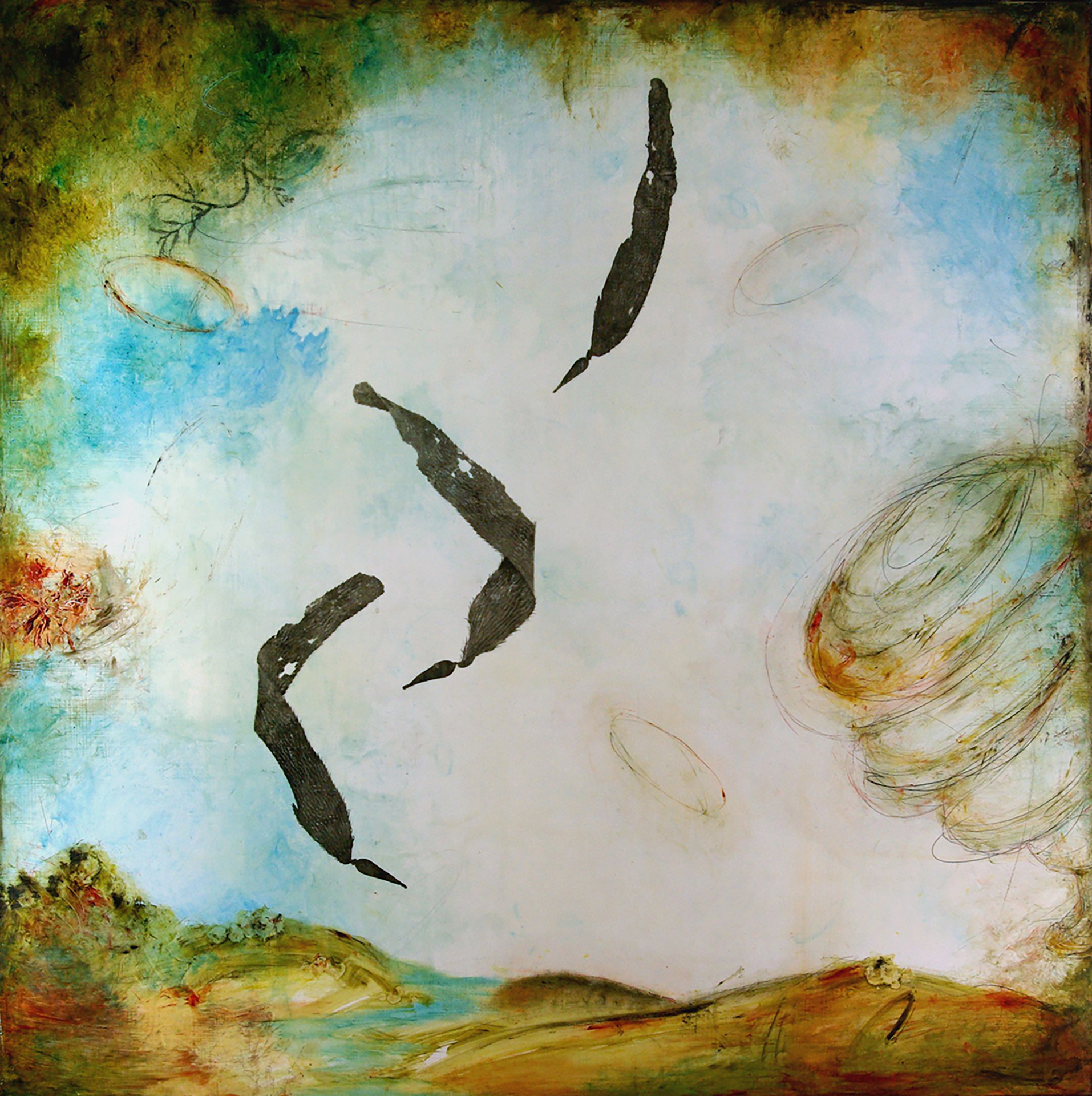 Molly Cliff Hilts, Atmospheric Disturbances, encaustic