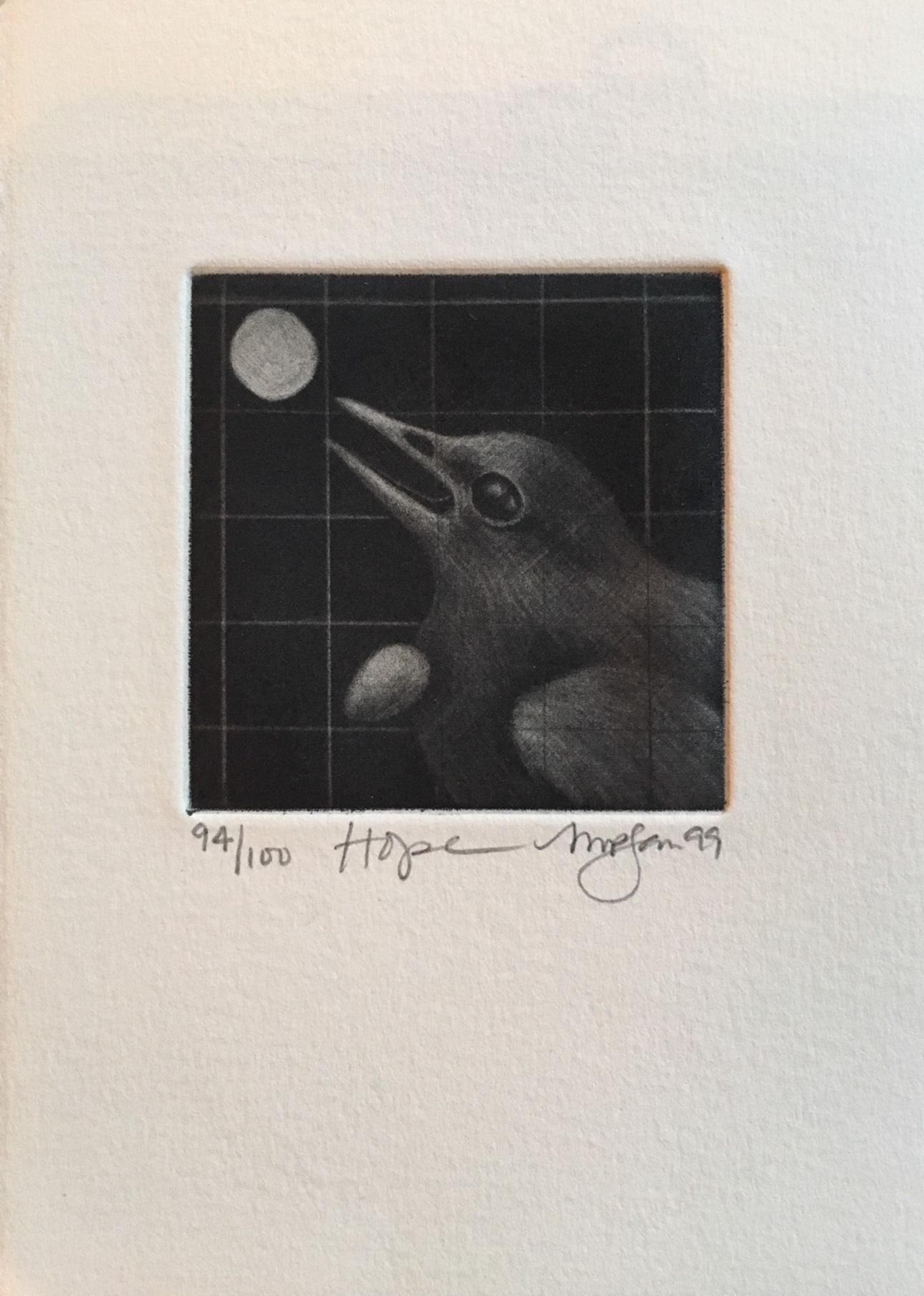 Martha Pfanschmidt, Hope, mezzotint