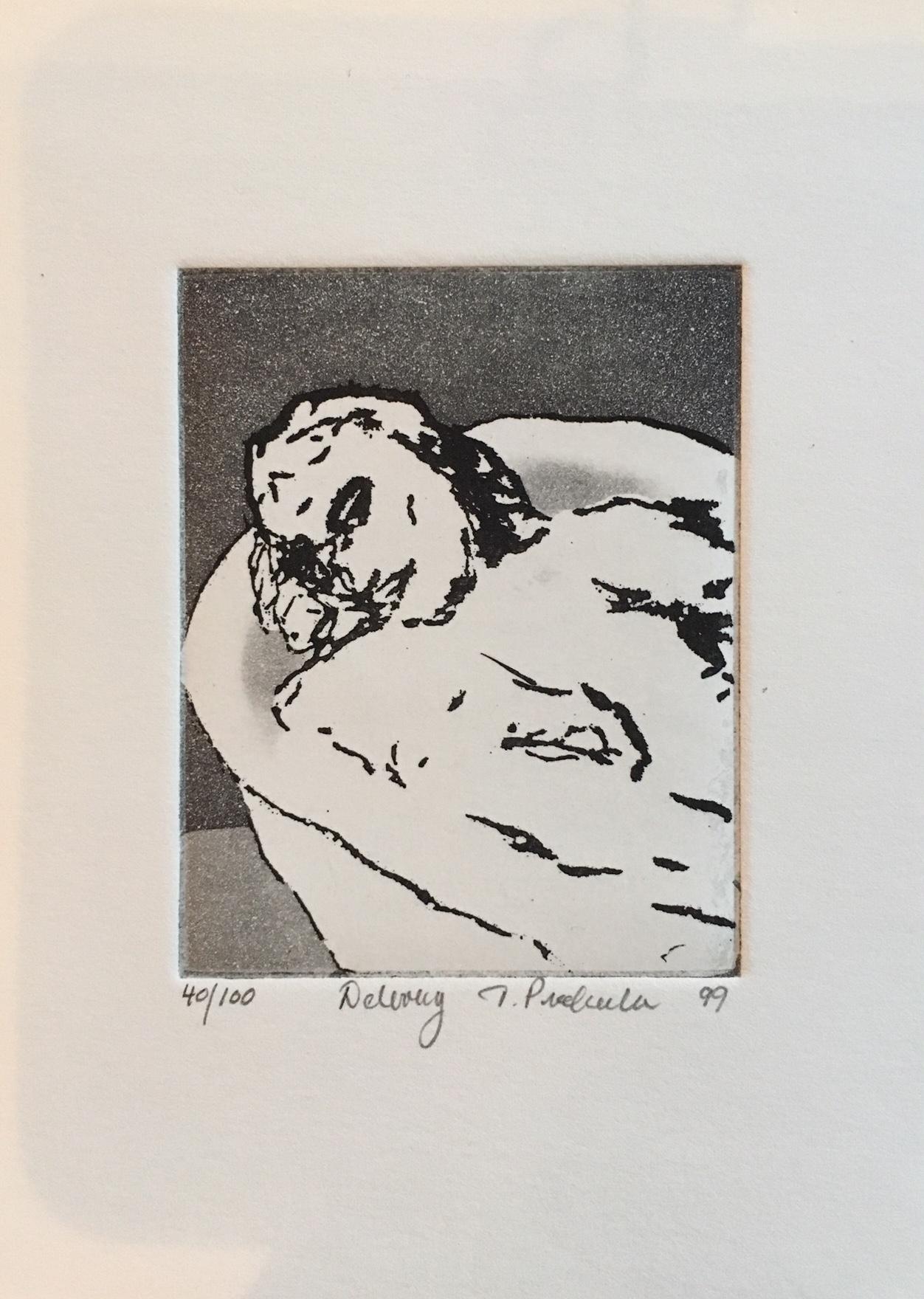Tom Prochaska, Delivery, lift ground etching