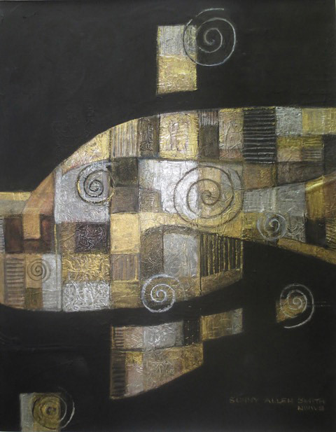 Sunny Smith, Silver and Gold, mixed media