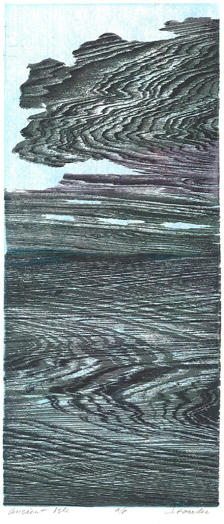 Jan Fowler, Ancient Isle, Woodcut