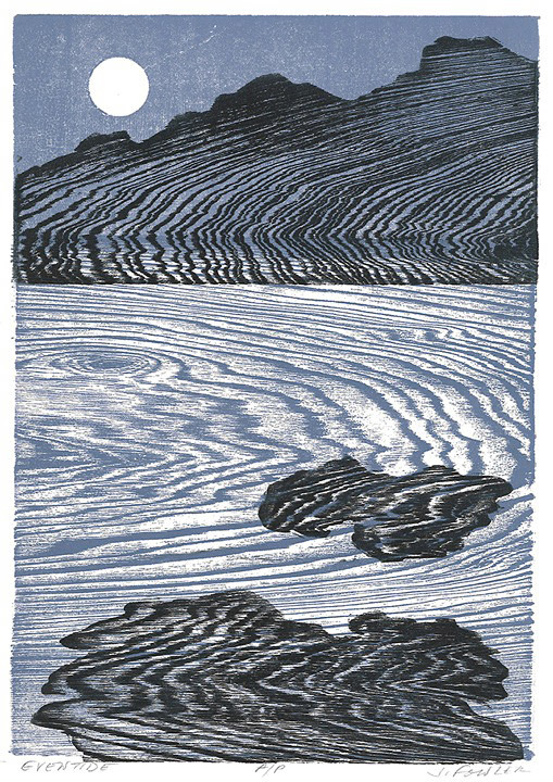 Jan Fowler, Eventide, Woodcut