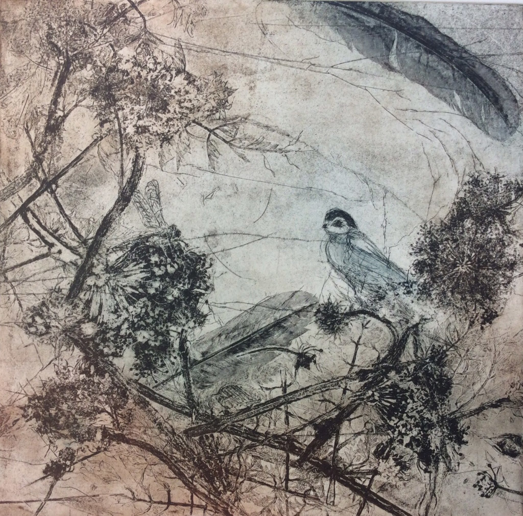 Jani Hoberg, Morning Treasure, Etching