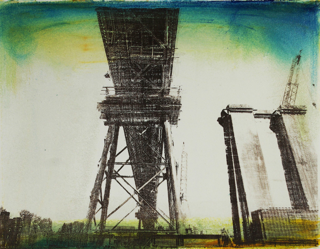 Molly Cliff Hilts, Sellwood Bridge, Lithograph