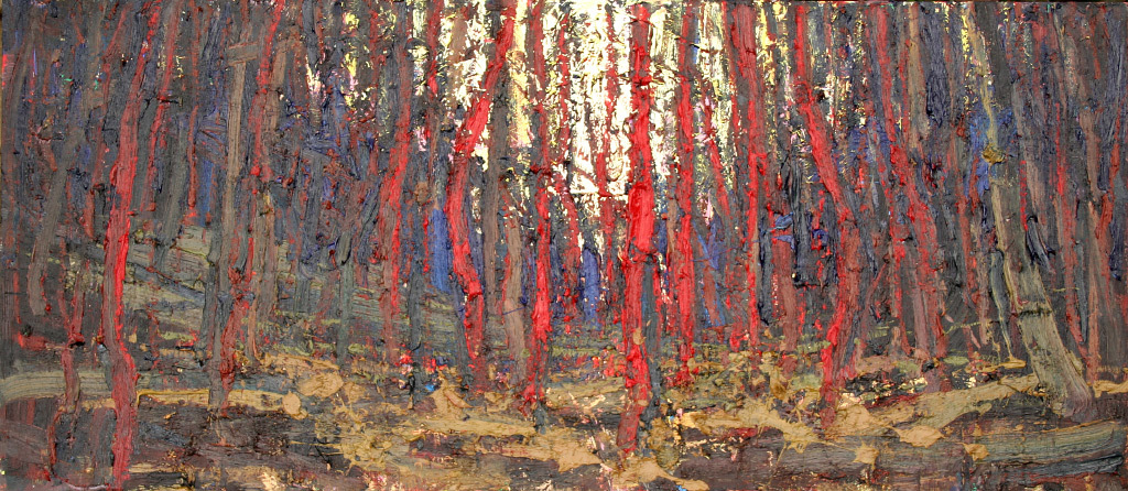 Anton Pavlenko, Sleepless Forest, oil