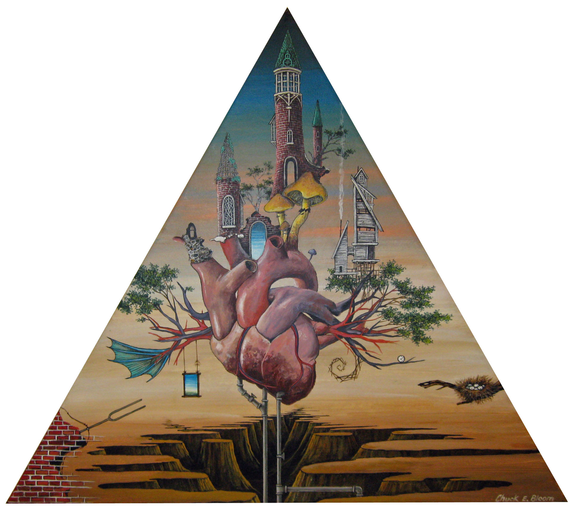 Chuck Bloom, Bizarre Love Triangle, acrylic