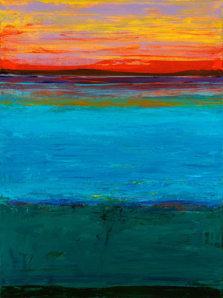 Gary Anderson, Island Dawn, acrylic on canvas